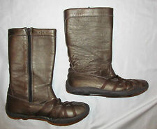 J -41 JEEP VENTURE  soft leather bronze straps zip  biker moto sporty boots 6.5