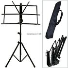 Adjustable Folding Sheet Music Stand Score Holder Mount Tripod Carrying Bag HOT