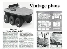 vintage 6 wheel ATV all terrain vehicle  vintage HOW TO MAKE PLANS DIY