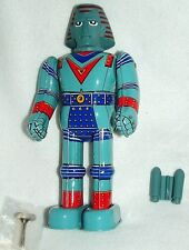"JOHNNY SOCKOs GIANT ROBOT Billiken 9""TIN WIND UP WALKNG JAPANmade1990's NEWinBOX"