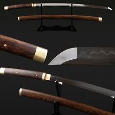 Handmade Japanese Samurai Katana Clay tempered Rosewood 1095 folded15 Real Hamon