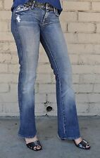Seven 7 For All Mankind A Pocket Studded Waist Havana Blue Jeans 26 USA Bootcut