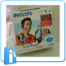Cámara Web Webcam PHILIPS SPC315NC USB Cam + AURICULAR Headset