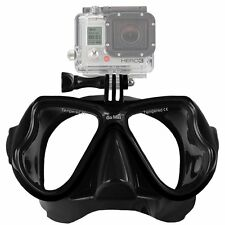 GoMax GoPro ® Scuba Diving Mask compatible for All GoPro ® Hero All Black