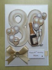 Luxury Hand-Made 80th Birthday Card-Can Be Personalised-Any Relative/Friend