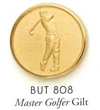 9 CT MASTER GOLFER GILT Holland & Sherry Blazer Buttons Best Gift for Him
