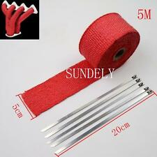 "2"" x 5Meter Red Exhaust Heat Wrap Manifold Downpipe High Temp Bandage Tape Roll"