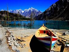 BOAT BUILDERS PAKISTAN HUNZA PHOTO ART PRINT POSTER PICTURE BMP485A