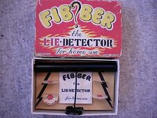 Vintage Fibber Lie Detector for home use! Midcentury Party Gadget! Box & Manual