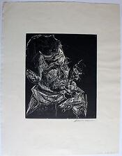 KARL-HEINZ HANSSEN-BAHIA - Selbstportrait. Signierter Holzschnitt, Griffelkunst.