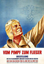 Art Ad German WW II Air Force Hitler Youth Poster Print