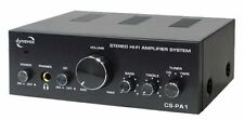 AMPLIFICATEUR AMPLI AUDIO 2 X 25W  MAX 3 ENTREES RCA SOURCES + 1 SORTIE REC