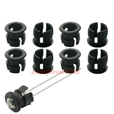 200pcs 3mm Black Plastic LED Clip Holder Case Cup Mounting New Free Shipping