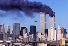 WTC September 11 Twin Tower & plane picture 9/11 8x10 photo