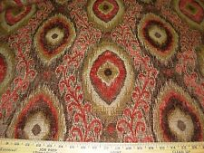 ~2 2/8 YDS~SOUTHWEST~PART CHENILLE~EMBROIDERED UPHOLSTERY FABRIC FOR LESS~
