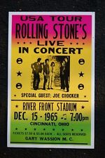 The Rolling Stones Poster 1965 River Front Stadium Ohio