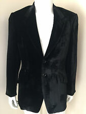 PAUL SMITH BLACK LIQUID VELVET SINGLE BREASTED JACKET/BLAZER SIZE 40R