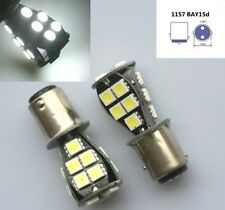2x White CANBUS 1157 BAY15D 18 LED 5050 SMD P21/5W Brake Tail Light Bulb DC 12V