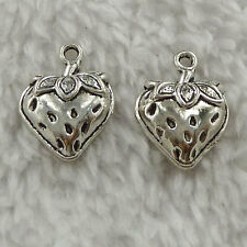 free ship 260 pieces tibet silver strawberry charms 20x15mm #3585