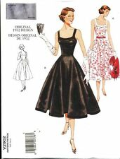 VOGUE SEWING PATTERN 2902 MISSES 12-16 RETRO 1952 FLARED DRESS WITH CIRCLE SKIRT