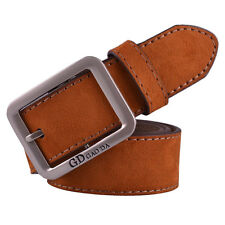 Fashion Men's Casual Leather Waistband Automatic Buckle Belt Waist Strap Belts