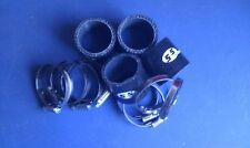 Silicone Hose 48mm Fitting Kit for Bike Carbs or Throttle Bodies BLACK