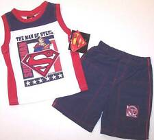 NWT DC Comics Superman Man of Steel Boy's 2 Pc. Shorts Play Set Outfit, 2T