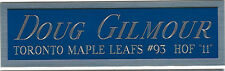 DOUG GILMOUR MAPLE LEAFS NAMEPLATE AUTOGRAPHED SIGNED HOCKEY STICK-JERSEY-PUCK
