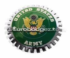 1- NEW Chrome Front Grill Badge EMBLEM United States US USA ARMYMEDALLION