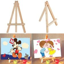 Kids Mini Wooden Easel Artist Art Painting Name Card Stand Display Holder F7