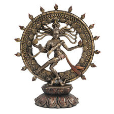 Shiva Nataraja Divine Dancer Hinduism India Goddess Figurine Statue Bronze Color