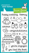 Lawn Fawn Happy Wedding Clear Stamps LF887 2015
