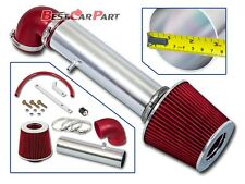 BCP RED 97-04 Jeep Cherokee/Grand Cherokee 4.0L L6 Short Ram Air Intake + Filter