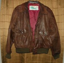 Vintage Mens Verri Pelle Leather Jacket Size 44 Brown