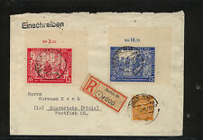 Germany  580-581 on registered cover  1947  Leipzig fair      KL0326