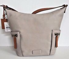 NWT Fossil Emerson Small Hobo Leather handbag Mineral Grey