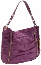 $298 NWT Cole Haan Bailey Pocket Ruched Leather Hobo Bag in PLUMERIA