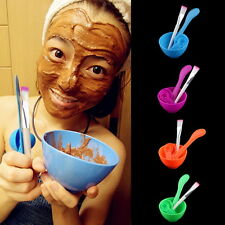 4 in 1 DIY Facial Mask Mixing Bowl Brush Spoon Stick Tool Face Care Set for lady