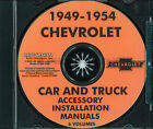 Chevrolet Accessory Installation Manual CD 1949 1950 1951 1952 1953 1954 Chevy