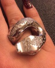 Sterling Silver & Cubic Zirconia Snake Ring Size 7