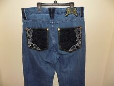 MEN'S COOGI JEANS DISTRESSED HIP HOP DETAILED POCKETS SIZE 34 X 34
