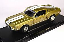FORD SHELBY MUSTANG GT-500KR 1968 GOLD 92168 1:18 NEW LUCKY ROAD SIGNATURE