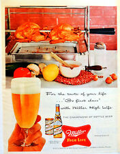 Vintage 1956 Miller High Life beer advertisement print ad art