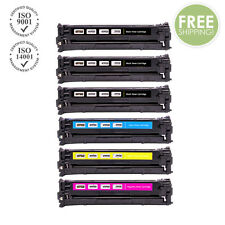 6PK COMPATIBLE 128A CE320A CE321A CE322A CE323A Toner Cartridge for HP