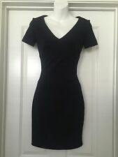 Prada Navy Blue Sheath Dress SZ 2 S Small 36 Career Gorgeous