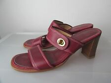 Authentic COACH Turnlock Red Leather Heels Size 8