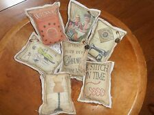 7 BowL FiLLer AntiQue StYle ASSorted SeWinG TheMe AdverTisement cOUNTRY dECOR