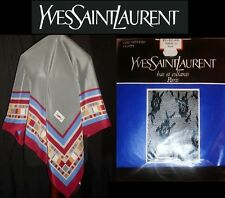 Yves Saint Laurent ~ NEW amazing silk scarf + YSL lace pantyhose * AUTHENTIC YSL