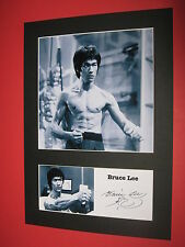 BRUCE LEE A4 PHOTO MOUNT SIGNED REPRINT AUTOGRAPH ENTER THE DRAGON BRANDON LEE