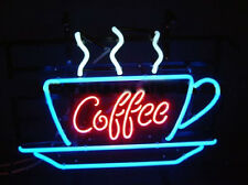 """Coffee Neon Sign Display Cafe Beer Bar Pub Mancave Garage Real Light17""""X14""""T419"""